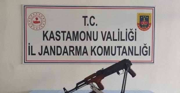 Jandarma bir evde piyade tüfeği ele geçirdi: 1 gözaltı