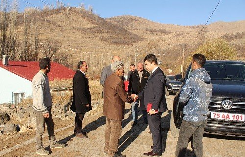 Kaymakam Alper Taş'dan köy ziyaretleri