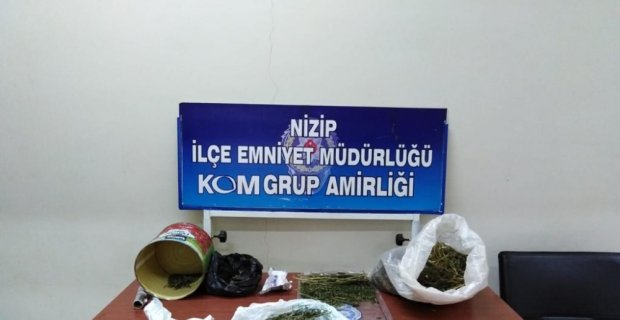 Nizip'te 2 kilo uyuşturucu ele geçirildi