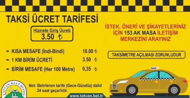 """Tatvan'daki """"ticari taksilere"""" yeni fiyat düzenlemesi"""