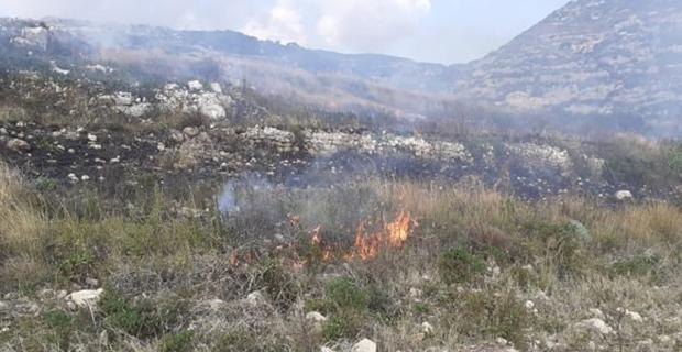 Samandağ'da kuru ot yangını
