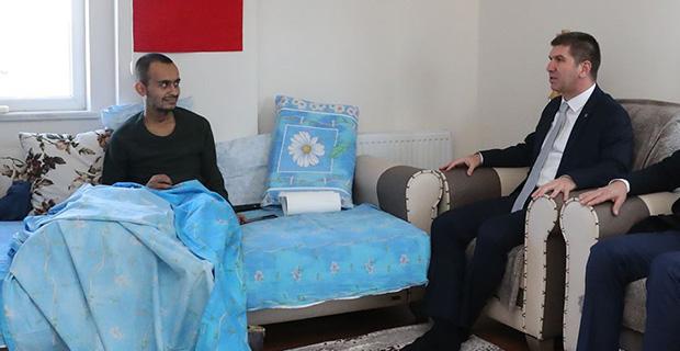 Tel Abyad gazisine moral ziyareti
