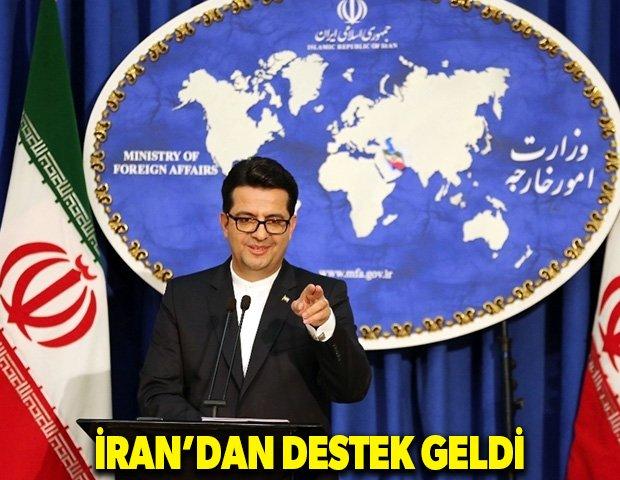 İran'dan destek geldi