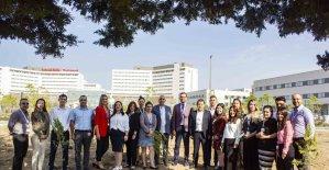 Adana Şehir Hastanesi çalışanları fidan dikti