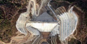 Akçay Barajı'nda su tutulmaya başlandı