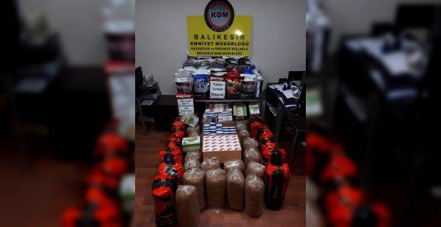 Balıkesir'de polis 197 kilo kaçak tütün yakaladı