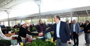 """Başkan Altay: """"Amacımız esnafımızın ve vatandaşımızın daha iyi şartlarda alışveriş yapabilmesi"""""""