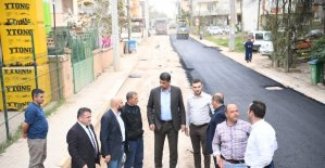Başkan Kocaman asfalt çalışmalarını inceledi