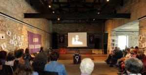 Bodrum'da kadınların çığlığı tuvale yansıdı