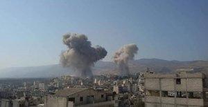 Esad rejimi İdlib'i vurdu