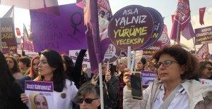 """Kadıköy'de """"Kadına Şiddete Hayır"""" eylemi"""