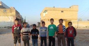(Özel) Tel Abyadlı çocukların futbol sevinci