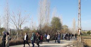 Selendi'de öğretmenler doğa yürüyüşüyle stres attı