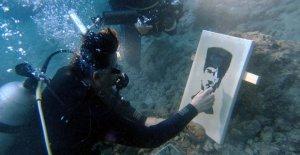 Su altında yapılan en anlamlı resim