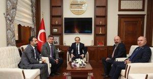 TBB Başkanı Metin Feyzioğlu, Vali Cüneyt Epcim'i ziyaret etti