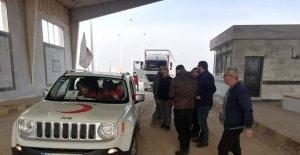 Türk Kızılayı Tel Abyad'a yardımlarını sürdürüyor