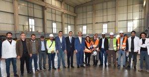 Vali Erin fabrikaları ziyaret etti