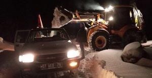 Antalya'da karla mücadele
