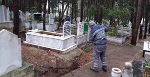 Mezarlıklarda kapsamlı temizlik