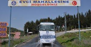 Kırsal mahallelerde dezenfekte