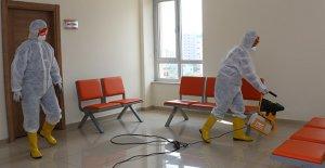 Ortak alanlarda dezenfekte