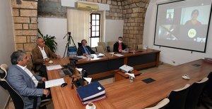 Toplantı video konferansla yapıldı
