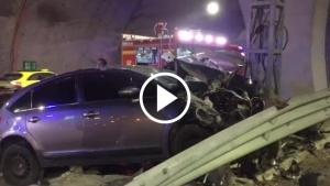 Trabzon Akyazı Tünelinde kaza